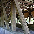 Construction Under The Roof - Jackson Covered Bridge Nh by Christiane Schulze Art And Photography