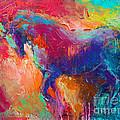 Contemporary Vibrant Horse Painting by Svetlana Novikova