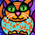 Contented Cat by Steven Scott