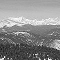 Continental Divide Rocky Mountain Snowy Peaks Panorama Bw Pt1 by James BO Insogna