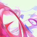 Contortion Pastel Abstract  by Alexander Butler