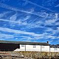 Contrails Over The Cobb by Susie Peek