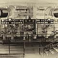 Control Board Engine Room Queen Mary Ocean Liner Long Beach Ca Heirloom by Thomas Woolworth