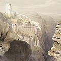 Convent Of St. Saba, April 4th 1839 by David Roberts