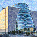 Convention Centre Dublin Republic Of Ireland by Liz Leyden