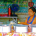 Cooking In The Marketplace In Tachilek-burma by Ruth Hager