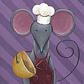 Cooking Mouse Kitchen Art by Christy Beckwith