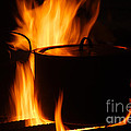 Cooking Pot On Fire Finland by Rosemary Calvert