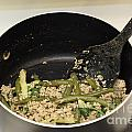 Cooking Salmon With Green Beans by Lee Serenethos