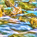 Mountain - Flowing Water - Cool Mountain Stream by Barry Jones