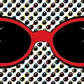 Cool Retro Red Sunglasses by MM Anderson