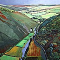 Coombe Valley Gate, Exmoor, 2009 Acrylic On Canvas by Anna Teasdale