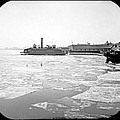 Cooper's Point Barge Hudson River C 1900 by A Gurmankin