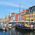 Copenhagen Denmark Nyhavn District by Eva Kaufman