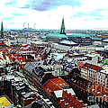 Copenhagen Roofs With Danish Parliament I by Kim Lessel