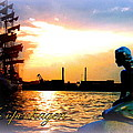 Copenhagen With Little Mermaid by The Creative Minds Art and Photography