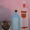Copper Jug With Glass Bottles by Vandna Mehta