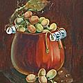Copper Kettle Of Grapes by Doreta Y Boyd