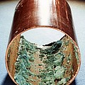 Copper Pipe Deposits by Science Photo Library