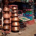 Copper Pots by Carol Ailles