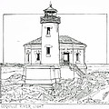 Coquille River Light by Ira Shander