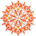 Coral Crab Mandala by Stephanie Troxell