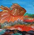 Coral Land Goldfish by Maria Urso