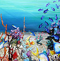 Coral Reef Blues  by Karin  Dawn Kelshall- Best