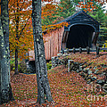 Corbin Covered Bridge Newport New Hampshire by Edward Fielding