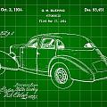 Cord Automobile Patent 1934 - Green by Stephen Younts