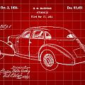 Cord Automobile Patent 1934 - Red by Stephen Younts