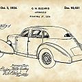 Cord Automobile Patent 1934 - Vintage by Stephen Younts