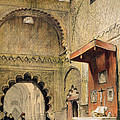 Cordoba Monk Praying At A Christian by John Frederick Lewis