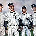 Core 4 Yankees  by Michael  Pattison