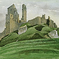 Corfe Castle by Osmund Caine