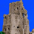 Corfe Castle Ruins by Bruce Nutting
