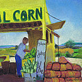 Corn And Oysters Farmstand by Susan Herbst