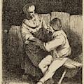 Cornelis Bega Dutch, 1631-1632 - 1664, The Refused Caress by Quint Lox