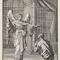 Cornelius Kneels Before The Angel Sent by Jan Luyken And Wed. Pieter Arentsz & Cornelis Van Der Sys Ii