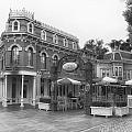 Corner Cafe Main Street Disneyland Bw by Thomas Woolworth
