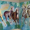 Corner Horses by Vicky Tarcau