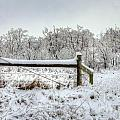 Corner Post Ice And Snow by M Dale