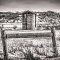 Corner Posts And Silo by M Dale