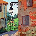 Street Corner In St. Colombe by Diane McClary