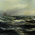 Cornish Sea And Working Boat by Charles William Hemy