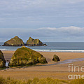 Cornish Seascape Holywell Bay by Brian Roscorla