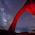 Corona Arch Milk Way Red Light by Michael Ver Sprill