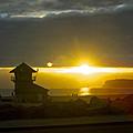 Coronado's Beach At Sunset by Claudia Ellis
