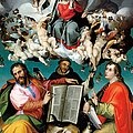 Coronation Of The Virgin With Saints Luke Dominic And John The Evangelist by Bartolomeo Passarotti