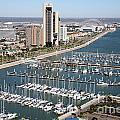 Corpus Christi Marina Aerial by Bill Cobb